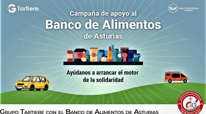 Finetwork  GIJÓN colabora con Grupo Tartiere a favor del Banco de Alimentos de Asturias